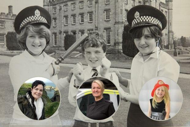 Chief Superintendent Hazel Hendren (on left in main picture) as an 11 year old at Tulliallan Police College