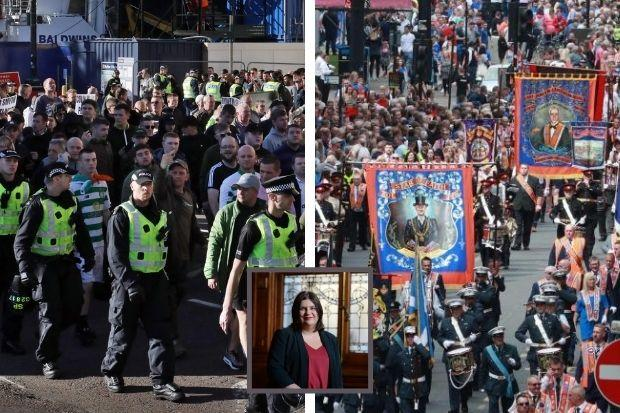 City authorities have been grappling with heightened tensions between loyalist and republican groups over the past two years