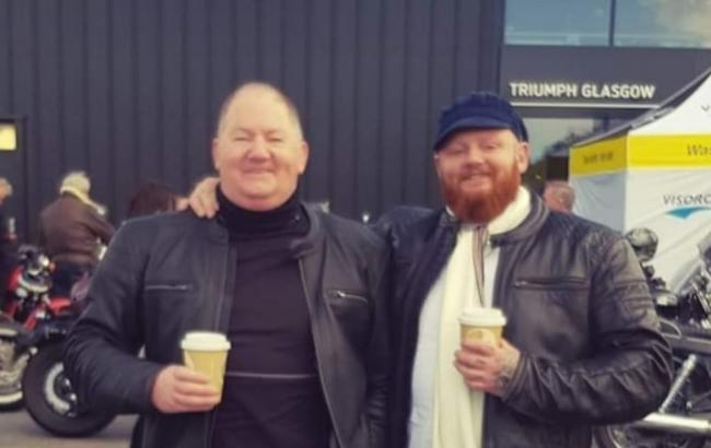Alexander Carson (left), known as Lex, died after a collision on the A701 (Police Scotland)