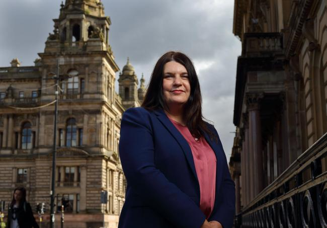Cllr Susan Aitken, leader of Glasgow City Council, pictured in George Square...  Photograph by Colin Mearns.4 September 2020.For Herald news, see interview by David Leask..