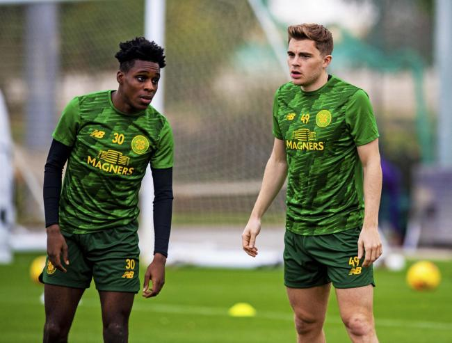 Celtic duo Jeremie Frimpong and James Forrest