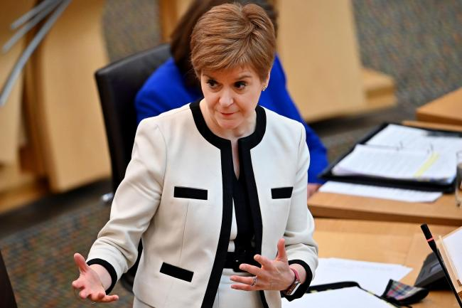 First Minister Nicola Sturgeon during First Minister's Questions at the Scottish Parliament, Edinburgh. PA Photo. Picture date: Thursday September 24, 2020. See PA story SCOTLAND Questions. Photo credit should read: Jeff J Mitchell/PA Wire