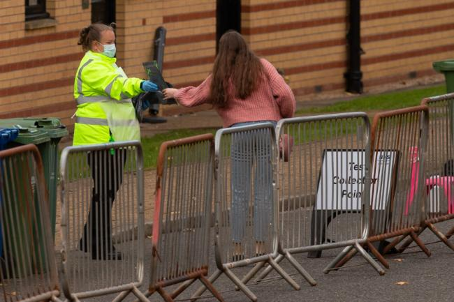 In pictures: Glasgow students arrive at walk-in coronavirus testing centre