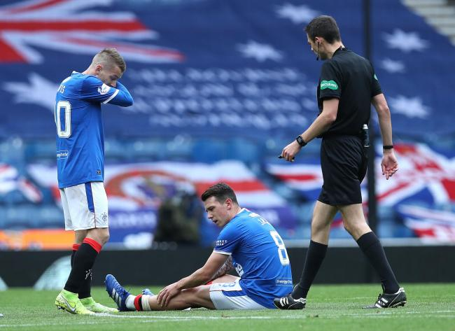 Ryan Jack was injured against Dundee United