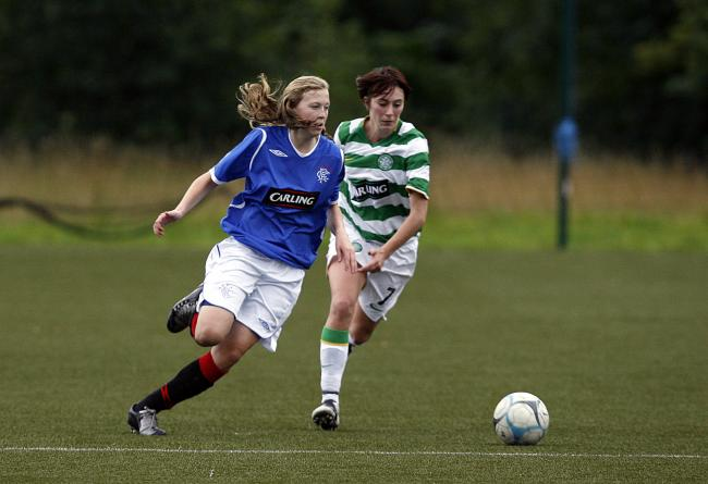 Lisa Swanson in action for Rangers