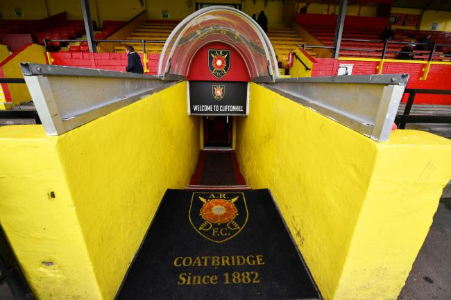 The tunnel at Albion Rovers' ground Cliftonhill.