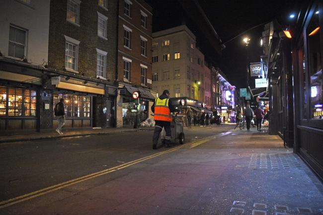 Soho in London after pubs and restaurants have closed due to the the 10pm curfew in order to combat the rise in coronavirus cases in England. PA Photo. Picture date: Thursday September 24, 2020. See PA story HEALTH Coronavirus. Photo credit should read: K
