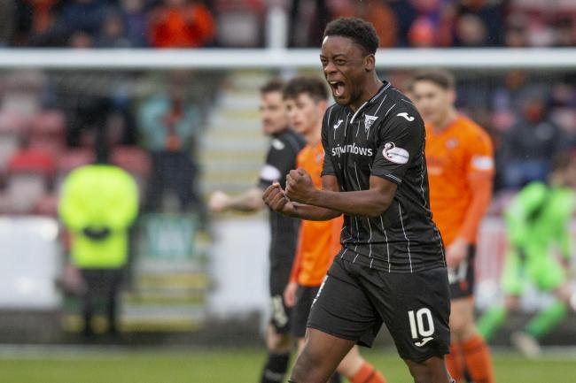 Celtic striker Jonathan Afolabi spent the second half of last season on loan with Dunfermline