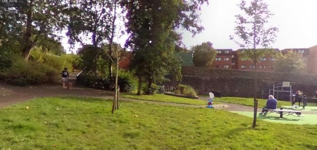 Old Station Park in Hyndland where a 12-year-old boy was attacked