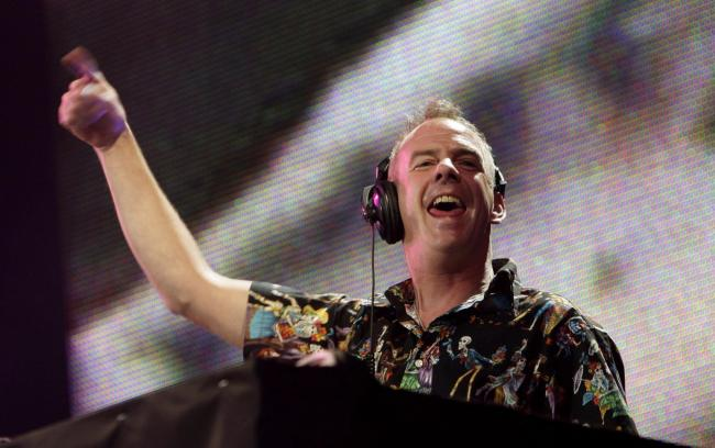 File photo dated 05/07/08 of Fatboy Slim (aka Norman Cook) performs on the Main Stage during the third day of the O2 Wireless Festival in Hyde Park, London. Fatboy Slim is to hold a free concert in his home town of Brighton for thousands of emergency