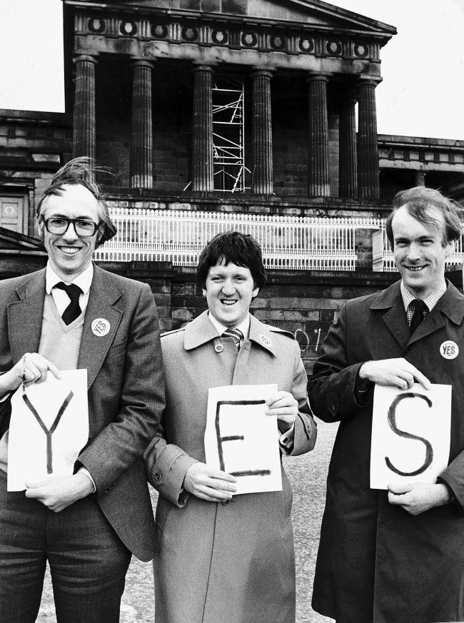 Donald Dewar campaigning for the YES vote in 1979