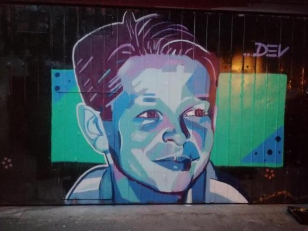 Glasgow Times: A mural to Sam in Australia