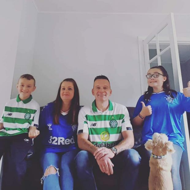 Glasgow Times: Dylan, Pamela, Kevin and Grace O'Driscoll supporting from Clydebank