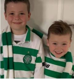 Glasgow Times: Dylan Mcdougall and Luca Mcdougall in green and white in Burnside