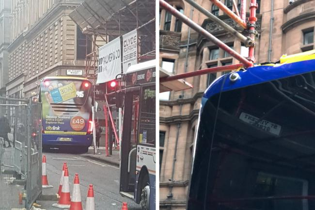 Several city centre roads closed off after bus collides with scaffolding