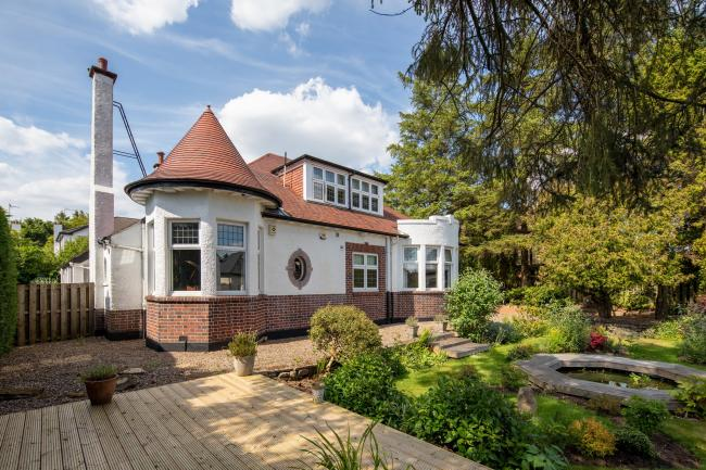 Take a look inside bungalow with perfect garden in Whitecraigs