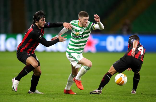 Ryan Christie made his comeback in Celtic's defeat to AC Milan.