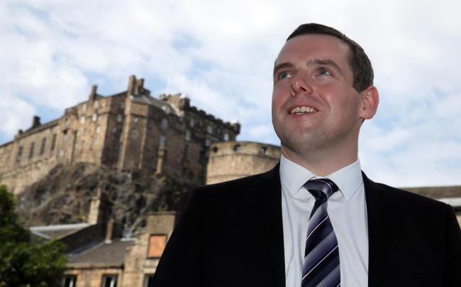 Scottish Conservative MP Douglas Ross in Edinburgh, after he confirmed he will stand for the leadership of the Scottish Conservatives following the sudden resignation of Jackson Carlaw after less than six months in the post. PA Photo. Picture date: Friday