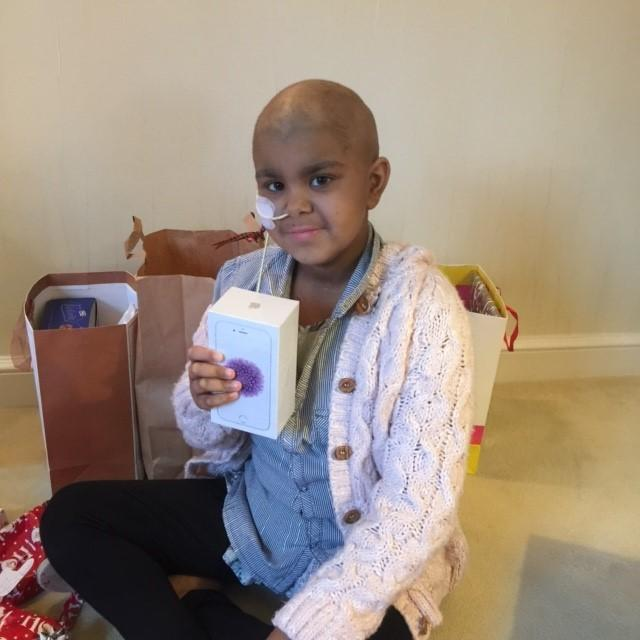 Ayesha after her transplant in 2015.