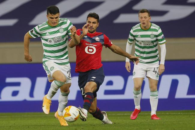 Moi Elyounoussi hit a stunning double as Celtic earned a draw in Lille.