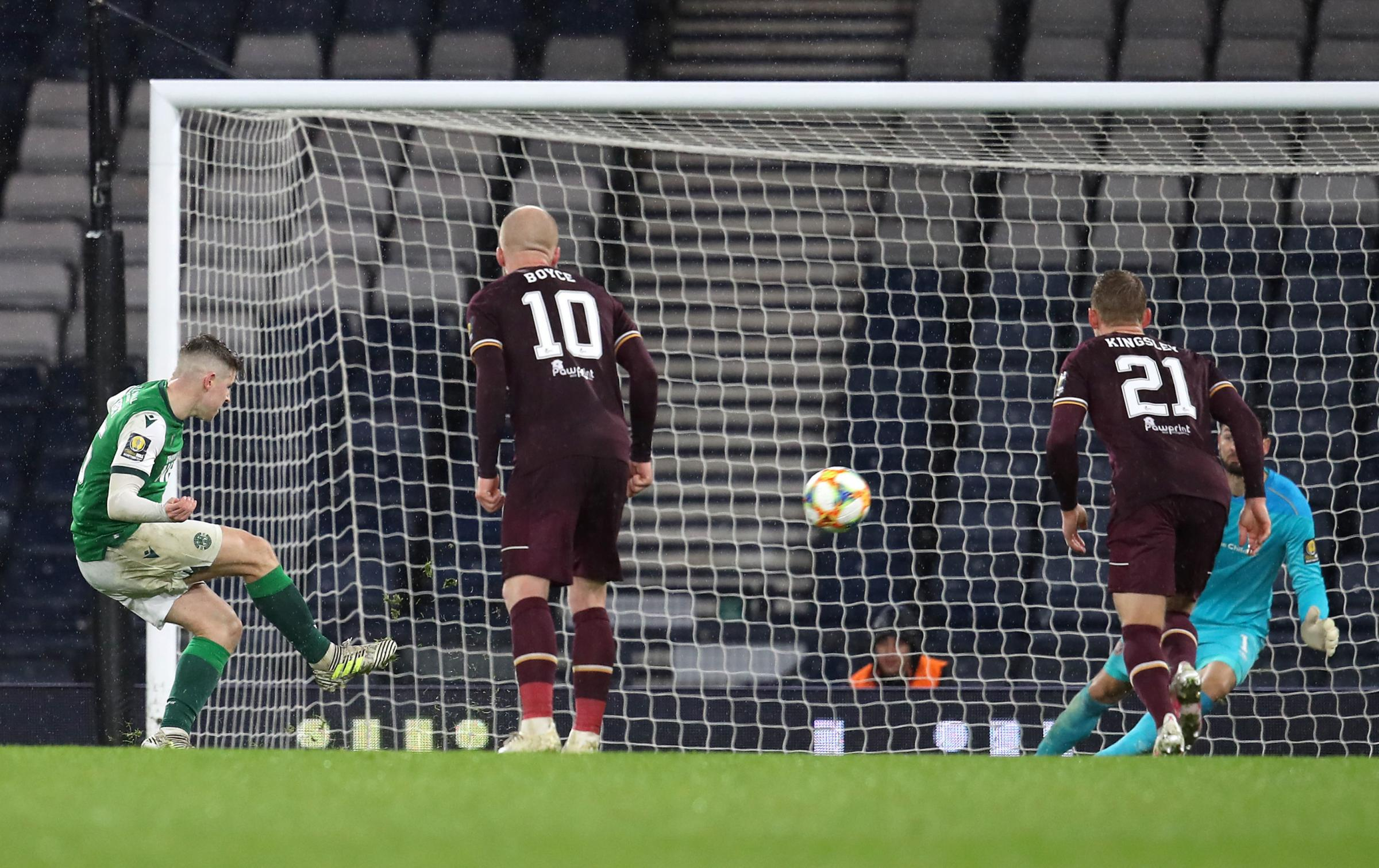 Jack Ross: Hibs striker Kevin Nisbet was brave to take Hampden penalty - he'll bounce back from semi-final miss | Glasgow Times
