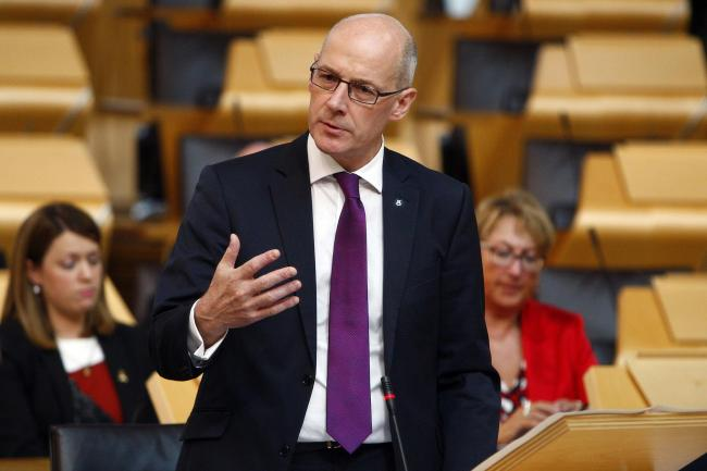 Scottish Parliament handout photo of Deputy First Minister and Education Secretary John Swinney, as he gives parliament an update on named persons legislation at the Scottish Parliament in Edinburgh. PRESS ASSOCIATION Photo. Issue date: Thursday September