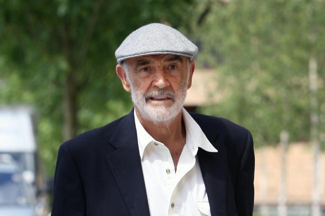 Movie star - Sean Connery - Photo by PA. Inset: the man himself at Stan's wedding