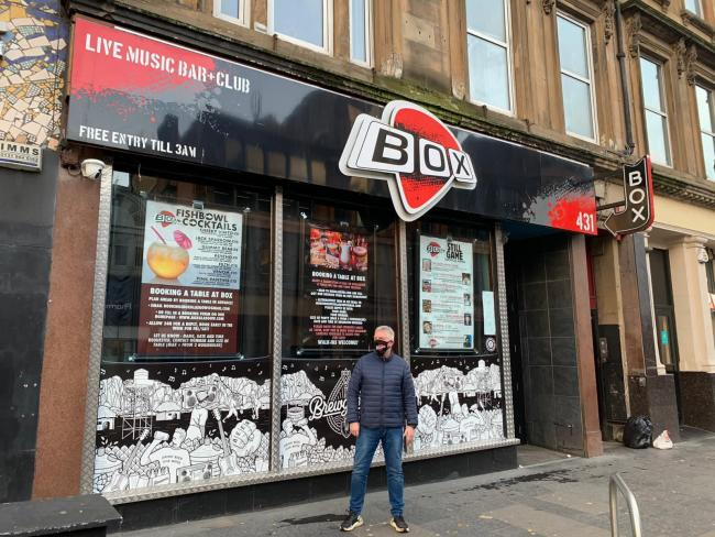 Steven McColm, co-owner and director of Box on Sauchiehall Street
