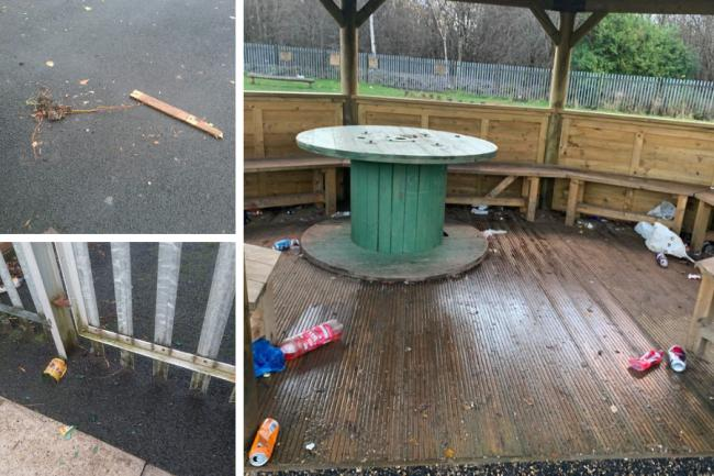 Police patrols stepped up in North Glasgow after playground is 'destroyed' in spate of anti-social incidents