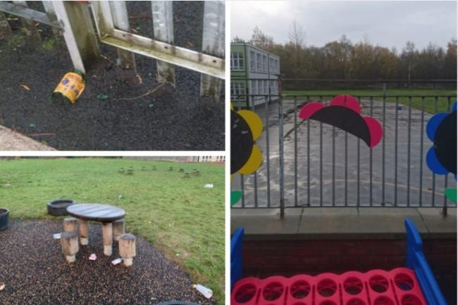 Cops hatch plan to tackle drunken youth vandals using school playground as base