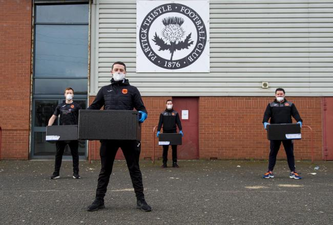 The Partick Thistle Charitable Trust has been providing over meals to support the local community during the pandemic.
