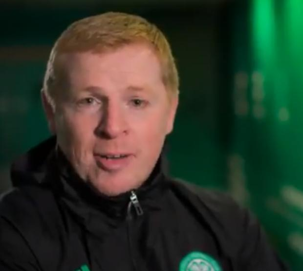 Glasgow Times: Celtic manager Neil Lennon narrates the clip