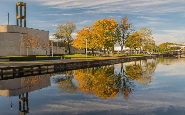 Evening Times Camera Club spread..Ian Barr. Autumnal colours at Clydebank shopping centre..