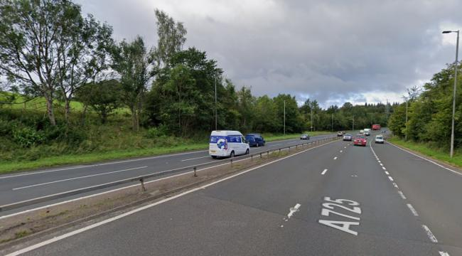Lane closed due to accident on East Kilbride Expressway