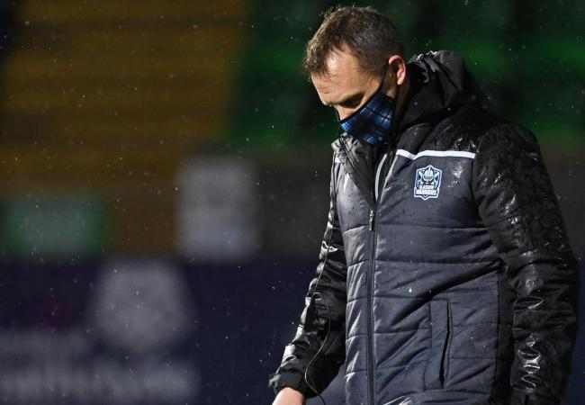 Head coach Danny Wilson cut a dejected figure after his side's latest defeat