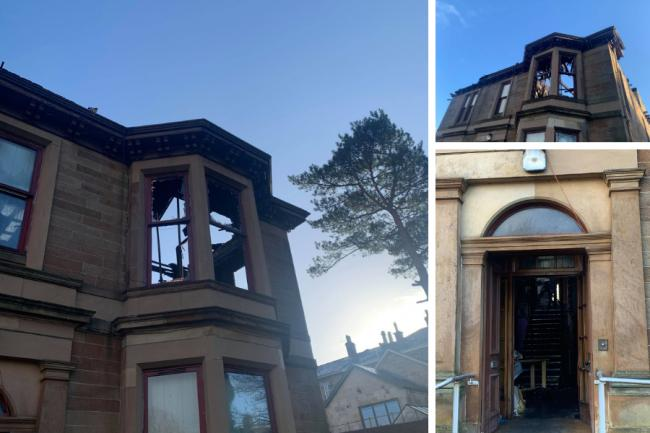 Devastating pictures show torn apart home after eight-hour blaze