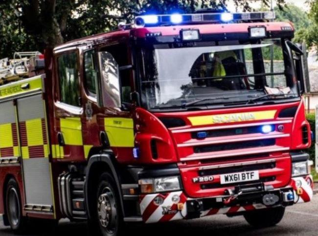 Fire crews still at scene of blaze in Newton Mearns