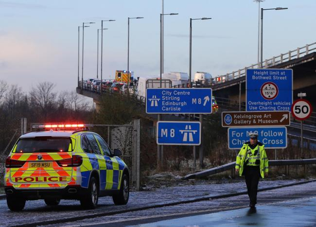 Pensioner, 74, struck by van on M8 in 'serious' condition in hospital