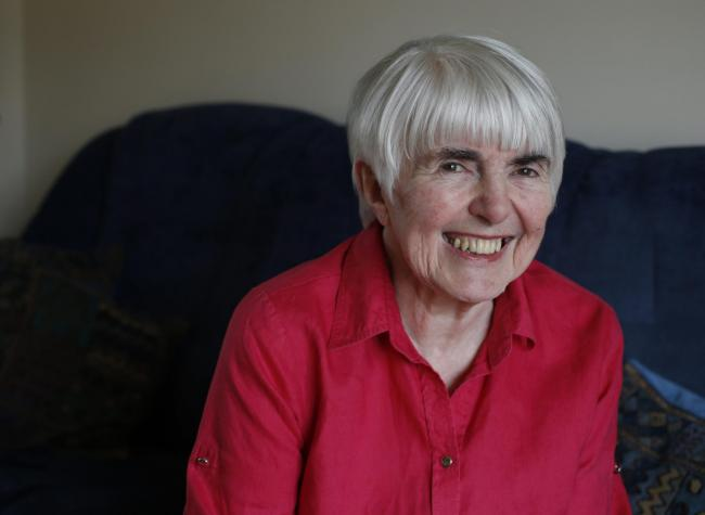 Maria Fyfe pictured at home in Anniesland.  She was  MP for Glasgow Maryhill for 14 years from 1987 before stepping down in 2001. Maria has just written her memoirs. ....For ET interview by Caroline Wilson.....  Photograph by Colin Mearns..24 February 201