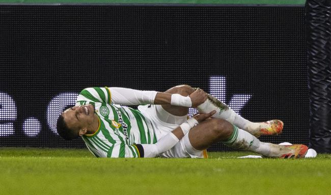 Celtic defender Christopher Jullien was injured against Dundee United