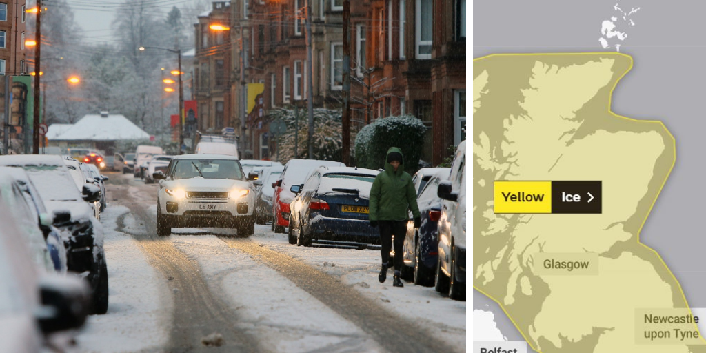 Glasgow weather warning as city faces 'risk of widespread black ice'