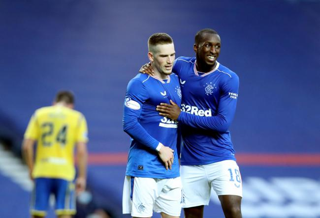Glen Kamara (right) has been a mainstay in Rangers' title-winning team this season