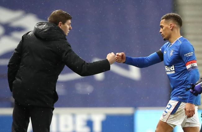 Rangers manager Steven Gerrard and captain James Tavernier