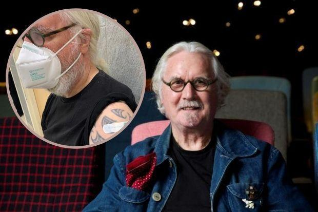 'Wee jab, nae bother': Big Yin receives second dose of Covid vaccine