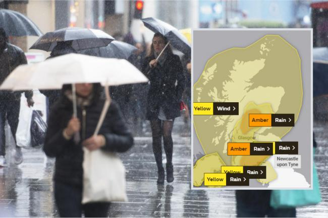 City set for wind and rain for next two days as Met office issue yellow weather warning
