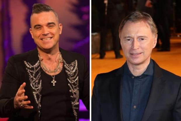 Robert Carlyle, right, has emerged as the early favourite to play Robbie Williams