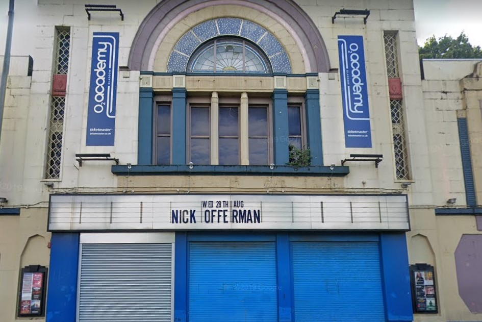The O2 Academy, once the New Bedford Cinema