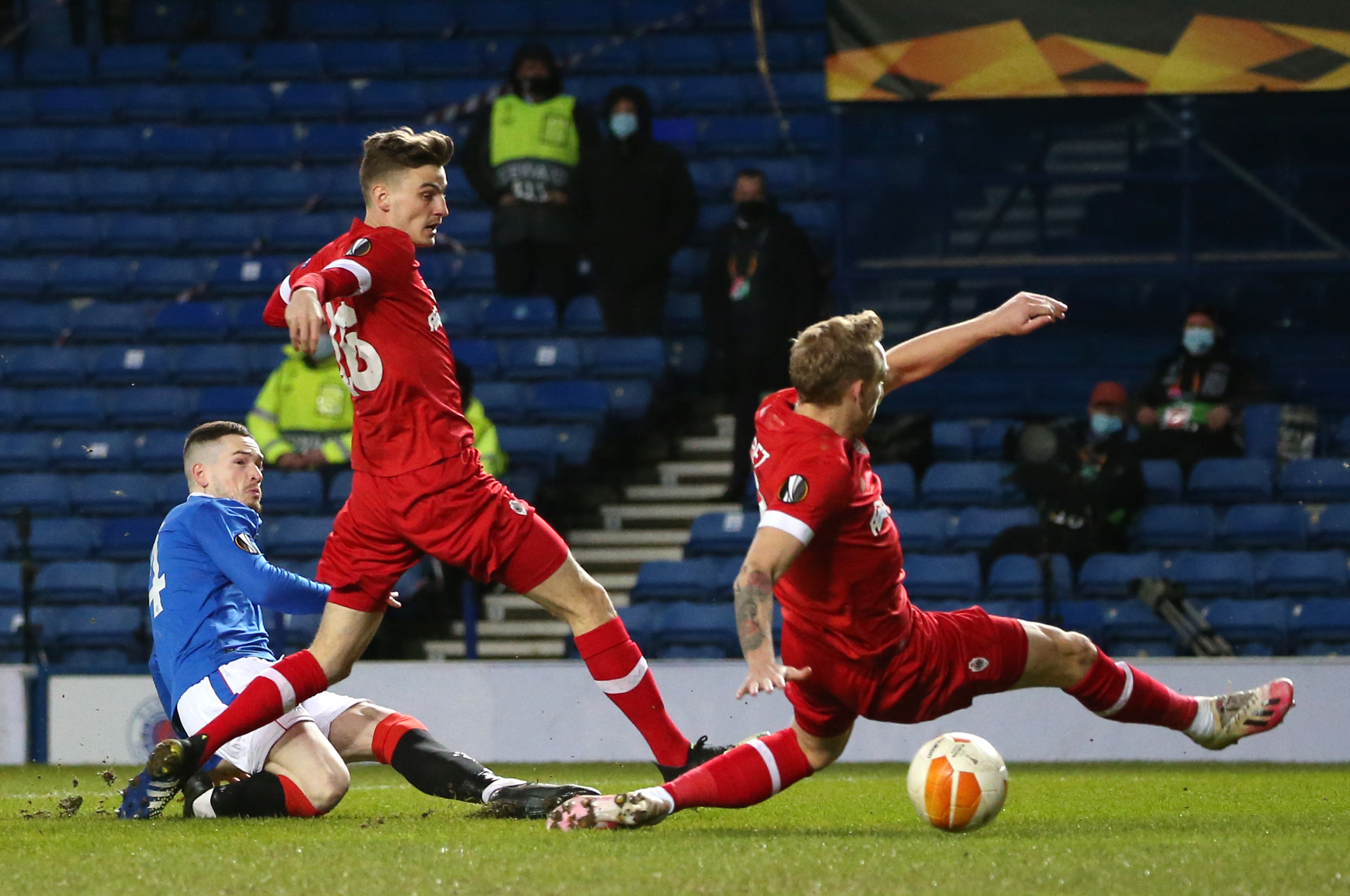 Ryan Kent reveals he wants Rangers to go all the way in the Europa League after five goal rout of Royal Antwerp
