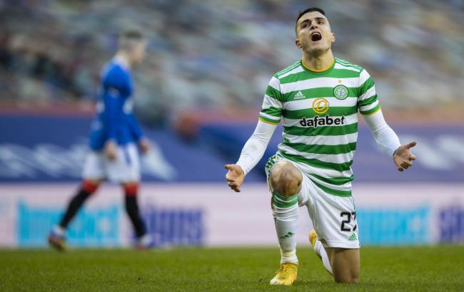 Celtic winger Mohamed Elyounoussi at Ibrox in January.