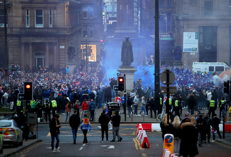 George Square: Teenager arrested in connection with title day disorder